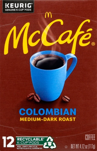 McCafe Colombian Medium-Dark Roast Coffee K-Cup Pods Perspective: front