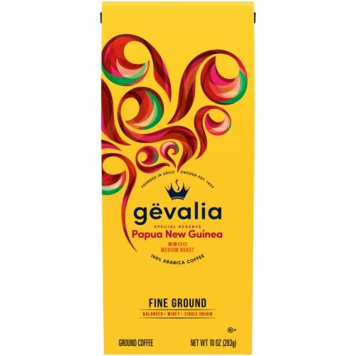 Gevalia Special Reserve Papua New Guinea Fine Ground Coffee Perspective: front