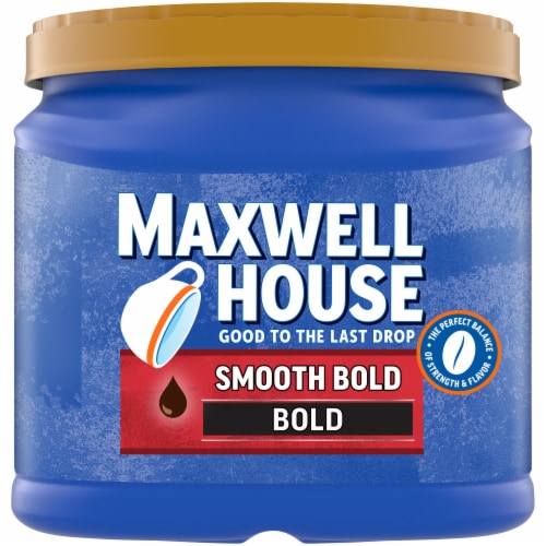 Maxwell House Smooth Bold Roast Ground Coffee Perspective: front