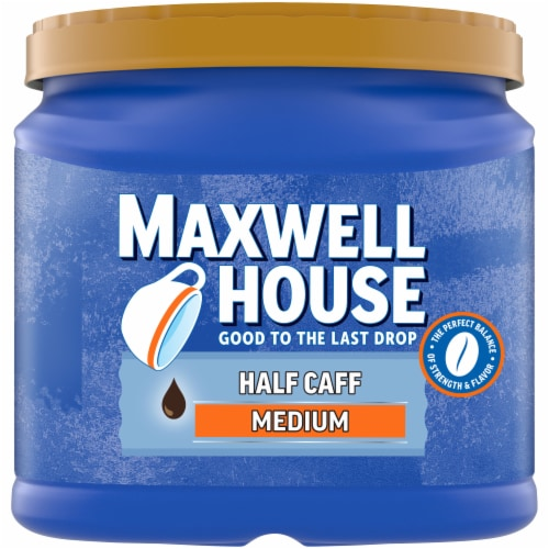 Maxwell House Half Caff Medium Roast Ground Coffee Perspective: front