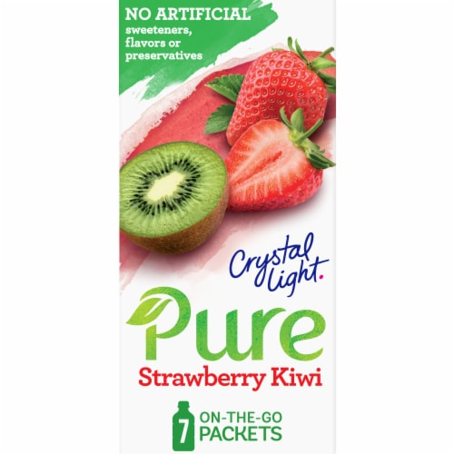 Crystal Light Pure Strawberry Kiwi Drink Mix Perspective: front