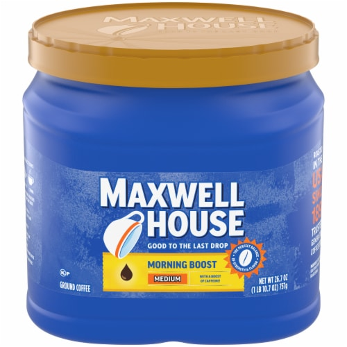 Maxwell House Morning Boost Medium Roast Ground Coffee Perspective: front