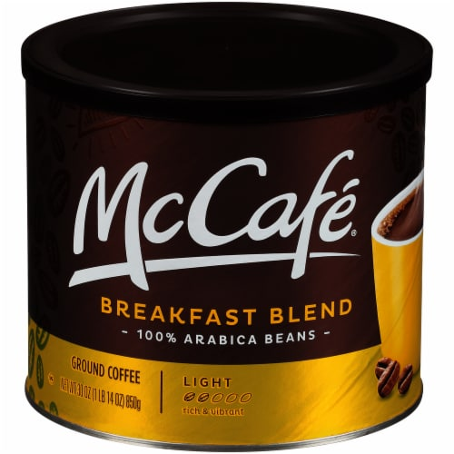 McCafé Light Roast Breakfast Blend Ground Coffee Perspective: front