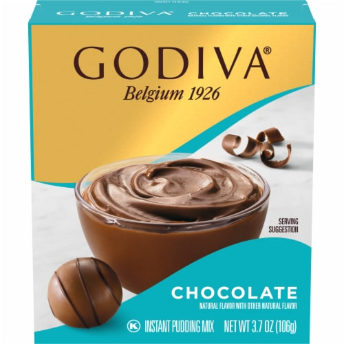 Godiva Chocolate Instant Pudding Mix Perspective: front