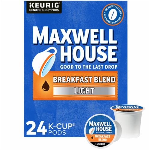Maxwell House Light Roast Breakfast Blend Coffee K-Cup Pods Perspective: front