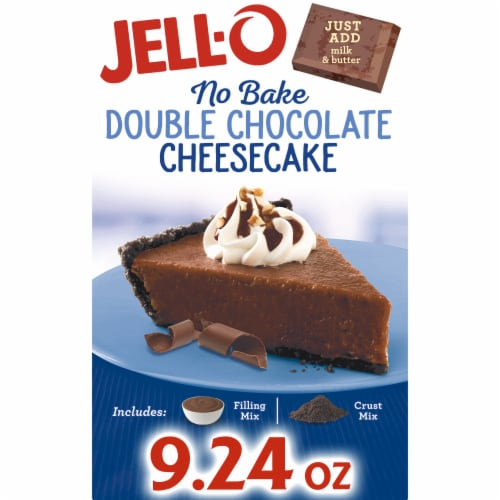 Jell-O No Bake Double Chocolate Cheesecake Perspective: front