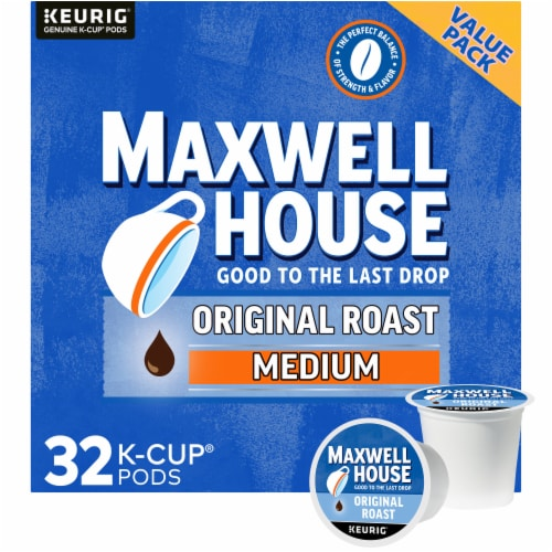 Maxwell House The Original Roast Medium Coffee K-Cup Pods Value Pack Perspective: front
