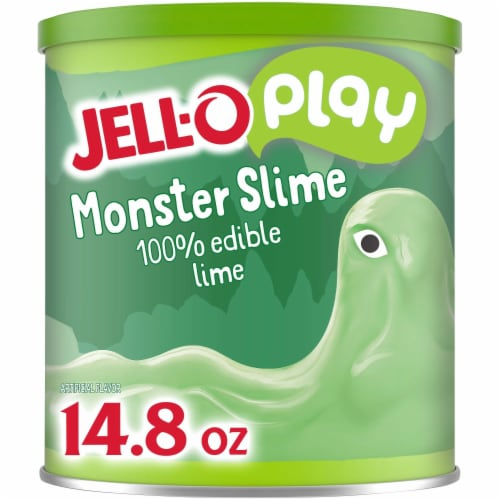 JELL-O 100% Edible Monster Slime Lime Gelatin Mix Perspective: front