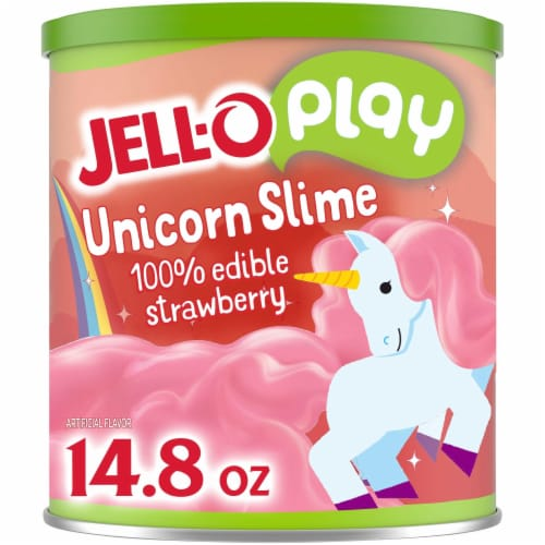 JELL-O Play 100% Edible Unicorn Slime Strawberry Gelatin Mix Perspective: front