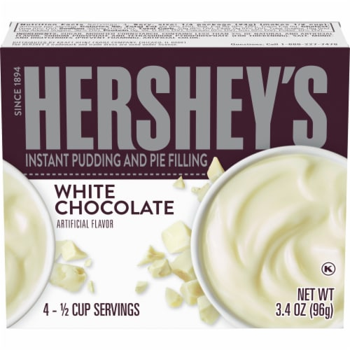 Hershey's White Chocolate Instant Pudding and Pie Filling Perspective: front