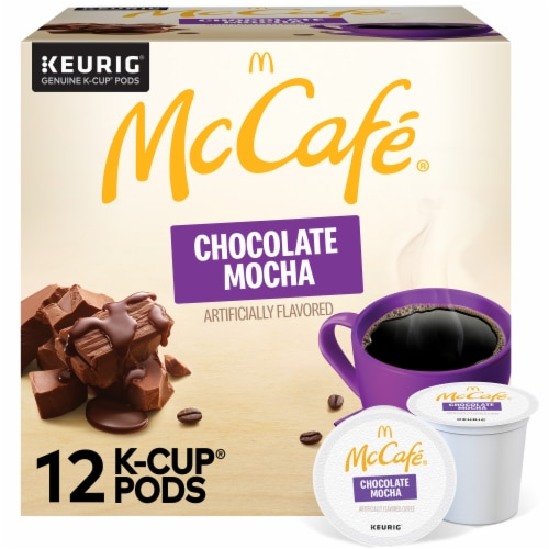 McCafe Chocolate Mocha Light Coffee K-Cup Pods 12 Count Perspective: front