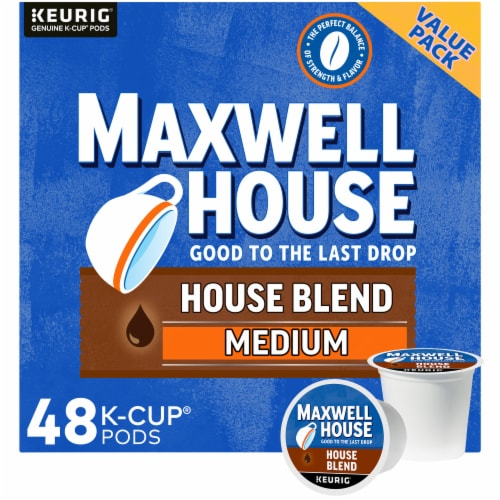 Maxwell House Medium Roast House Blend Coffee K-Cup Pods Perspective: front