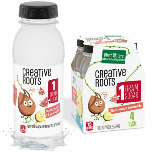 Creative Roots Watermelon Lemonade Flavored Coconut Water Beverages Perspective: front