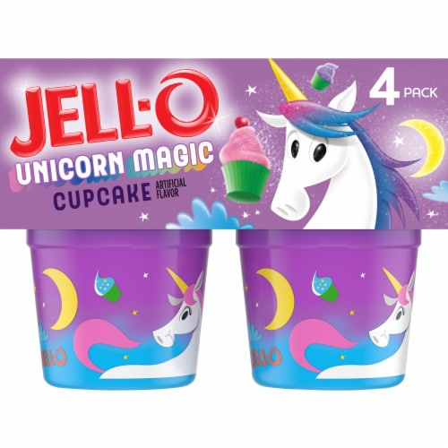 Jell-O Layers DreamWorks Trolls Cupcake Pudding Snacks Perspective: front
