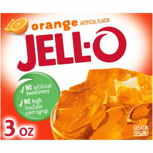 Jell-O Orange Gelatin Dessert Mix Perspective: front