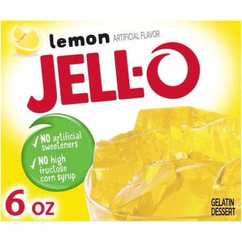Jell-O Lemon Gelatin Dessert Mix Perspective: front