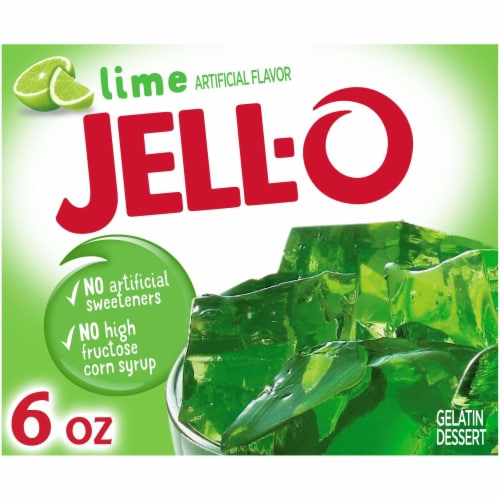 Jell-O Lime Gelatin Dessert Mix Perspective: front