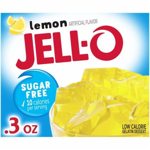 Jell-O Sugar Free  Lemon Gelatin Mix Perspective: front