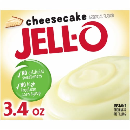 Jell-O Cheesecake Instant Pudding & Pie Filling Perspective: front