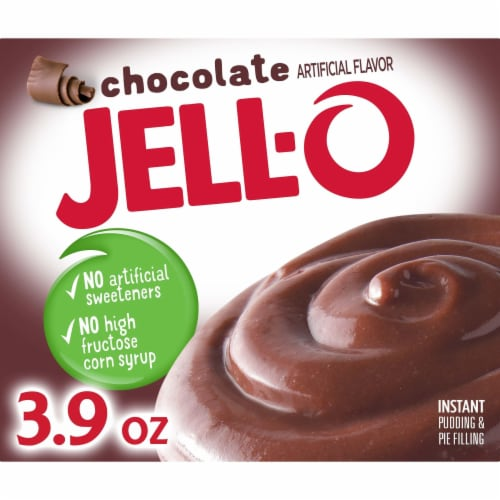 Jell-O Chocolate Instant Pudding & Pie Filling Perspective: front