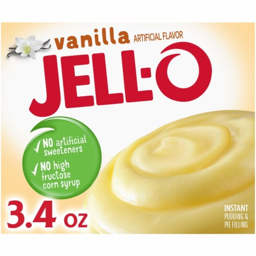 Jell-O Vanilla Instant Pudding & Pie Filling Perspective: front