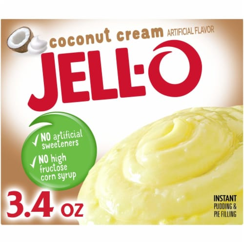 Jell-O Coconut Cream Instant Pudding & Pie Filling Perspective: front