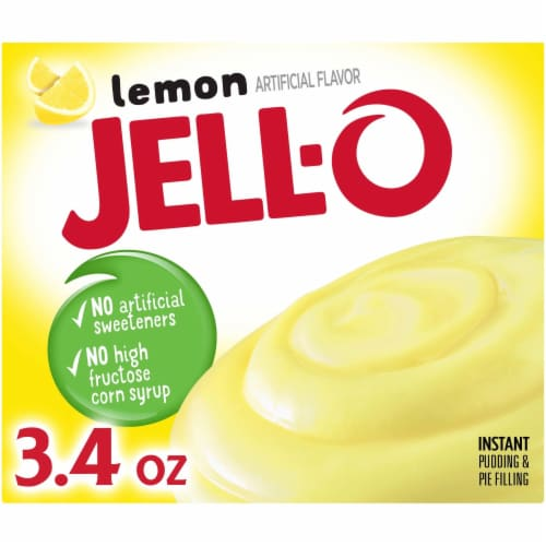 Jell-O Lemon Instant Pudding & Pie Filling Perspective: front