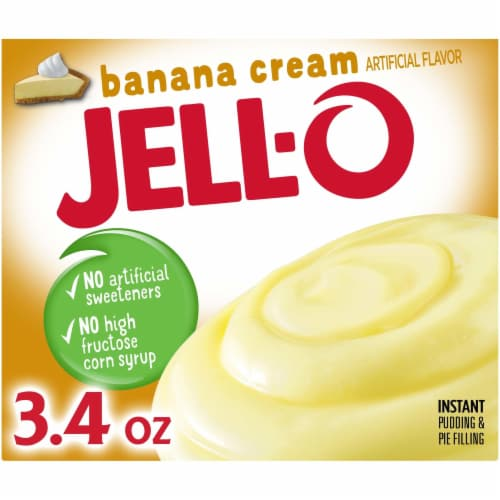Jell-O Banana Cream Instant Pudding & Pie Filling Perspective: front