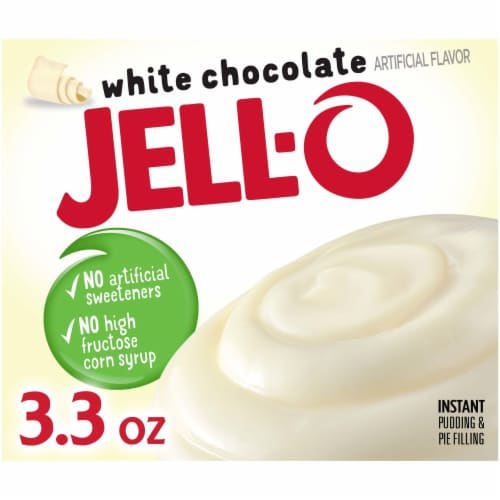 Jell-O White Chocolate Instant Pudding & Pie Filling Perspective: front