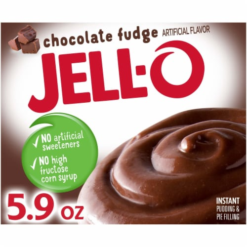 Jell-O Chocolate Fudge Instant Pudding & Pie Filling Mix Perspective: front