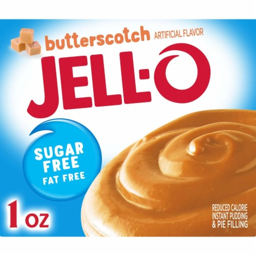 Jell-O Sugar Free Butterscotch Instant Pudding and Pie Filling Perspective: front
