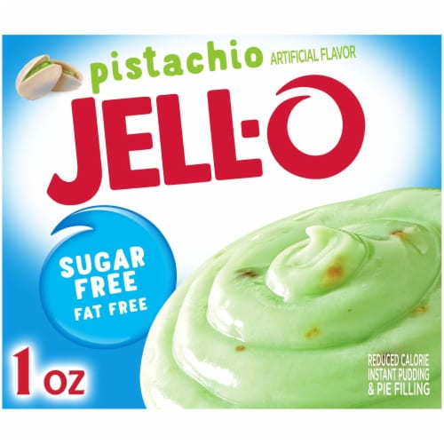 Jell-O Sugar Free Pistachio Instant Pudding & Pie Filling Perspective: front
