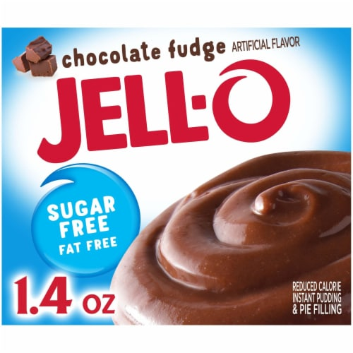 Jell-O Sugar Free Chocolate Fudge Instant Pudding & Pie Filling Perspective: front