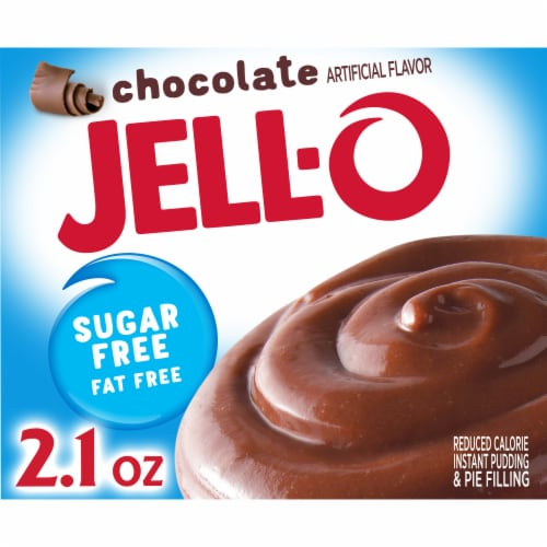 Jell-O Sugar Free Instant Chocolate Pudding & Pie Filling Perspective: front