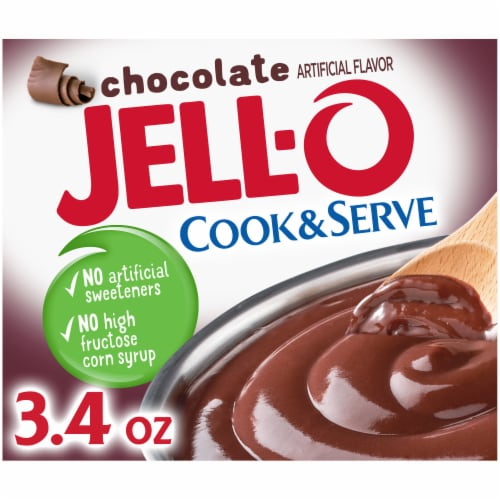 Jell-O Cook & Serve Chocolate Pudding & Pie Filling Perspective: front