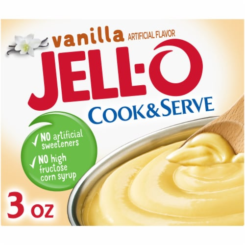 Jell-O Cook & Serve Vanilla Pudding & Pie Filling Perspective: front