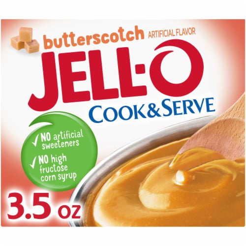 Jell-O Cook & Serve Butterscotch Pudding & Pie Filling Perspective: front