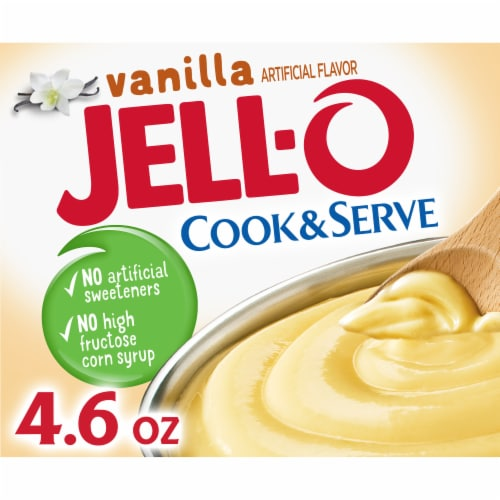 Jell-O Cook & Serve Vanilla Pudding & Pie Filling Mix Perspective: front
