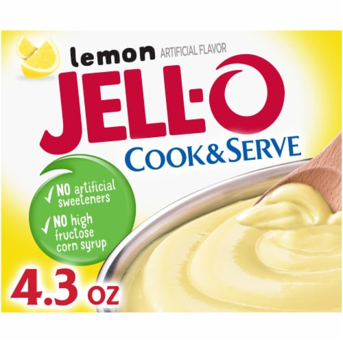 Jell-O Cook & Serve Lemon Pudding & Pie Filling Perspective: front