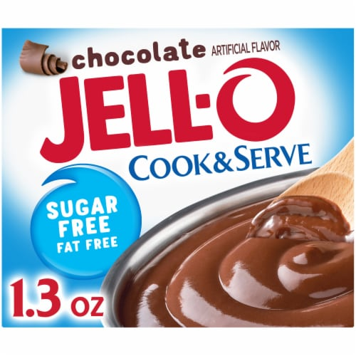 Jell-O Cook & Serve Sugar Free Chocolate Pudding & Pie Filling Perspective: front