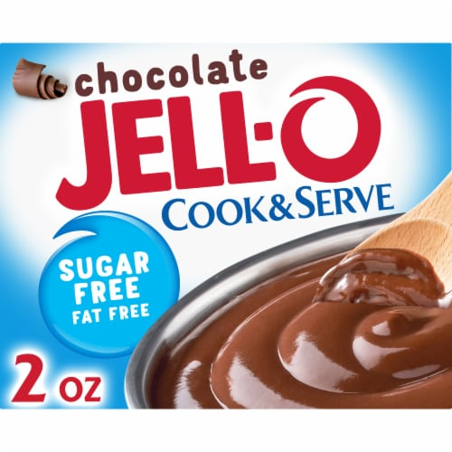 Jell-O Cook & Serve Sugar Free Fat Free Chocolate Pudding & Pie Filling Perspective: front