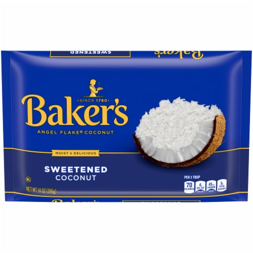 Baker's Angel Flake Sweetened Coconut Perspective: front
