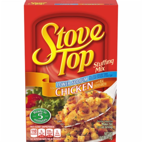 Stove Top Lower Sodium Chicken Stuffing Mix Perspective: front