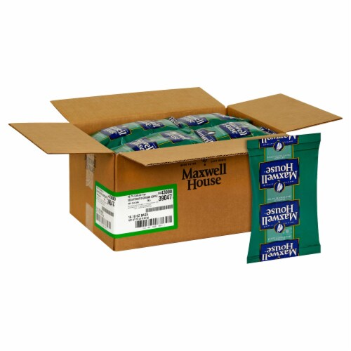 Maxwell House Decaffeinated Su High Yield Coffee - 10 oz. fractional pack, 16 packs  case Perspective: front