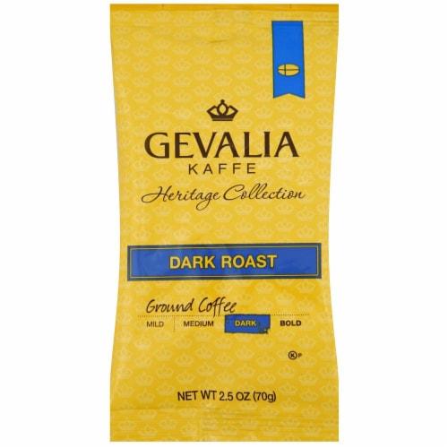 Gevalia Dark Roast Ground Coffee - 2.5 oz pack, 24 packs per case Perspective: front