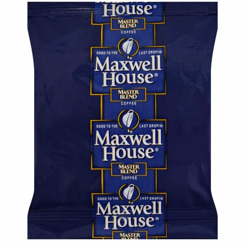 Maxwell House Master Blend Ground Coffee - 3.75 oz. frational pack, 64 packs per case Perspective: front