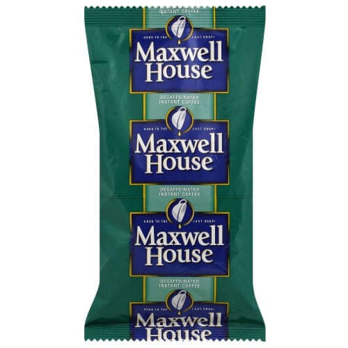 Maxwell House Freeze Dried Decaffeinated Coffee - 8 oz. bag, 12 bags per case Perspective: front