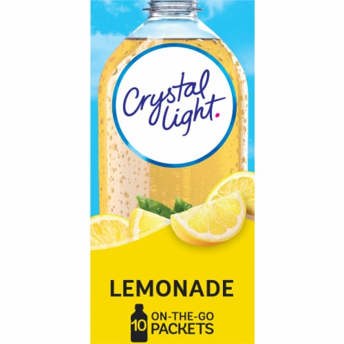 Crystal Light Lemonade Drink Mix Packets 10 Ct 0 14 Oz Qfc