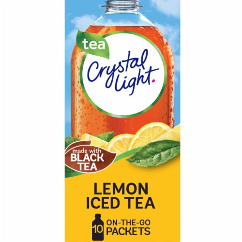 Crystal Light Lemon Iced Tea Drink Mix Packets Perspective: front