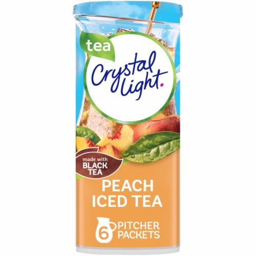 Crystal Light Peach Iced Tea Powdered Drink Mix Perspective: front